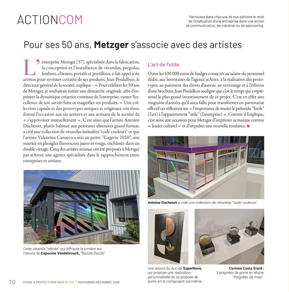 Metzger dans Verre et Protections Magazine