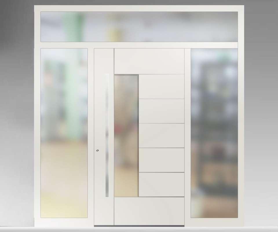 Bien choisir sa porte d'entrée : la luminosité qu'elle apporte peut-être un atout